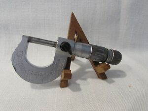 Brown Sharpe Swiss Made Outside Micrometer 0 1 W carbide Tipped Faces