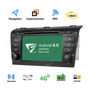 Us 7 Android 8 0 Car Dvd Stereo Radio Gps Obd For Mazda 3 2004 2009 Bluetooth I