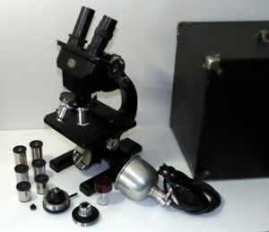 Spencer Lens Co Buffalo Stereo Binocular Microscope W Case Lamp Extras