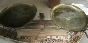 Antique Force 5 Kilog Cast Iron And Brass Counter Scale