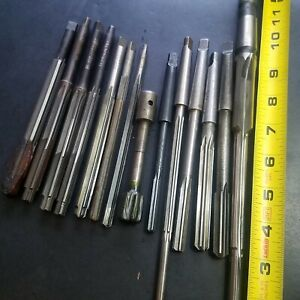 14 New used Reamers Mt1 Mt2 St Sh Morse Br Carbide hs Machinist 1mt