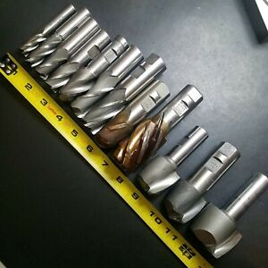 Lot Of 12 New gu Cobalt hs End Mills 1 7 8 1 2 Melin Weldon Putnam Machinist