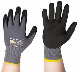 Atg Work Gloves Nitrile Grip Maxiflex Ultimate 34 874 Size 10 m 12 Pack
