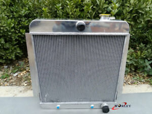 4 Row Aluminum Radiator For 1955 1959 Chevy Pick Up Truck V8 55 56 57 58 59