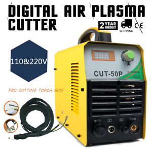 50a Plasma Cutter Pilot Arc Inverter Cutting Machine 110 220v With Accessories