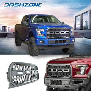 Raptor Style Led Black Mesh Grille Grill Assembly Fit 2015 2017 Ford F150 F 150