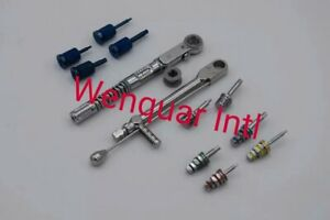 Dental Implant Torque Wrench Ratchet 10 50 Ncm 10 70 Ncm With Hex Hand Drivers