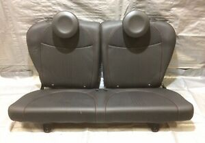 2012 2017 Fiat 500 Abarth Rear Seat Assembly Black Leather Oem F5002