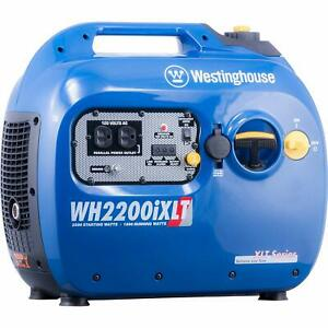 Westinghouse 2200 w Quiet Portable Gas Powered Inverter Generator Home Backup Rv