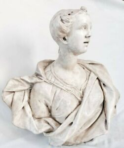 17th Century Marble Bust Of A Lady