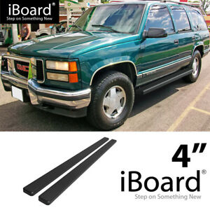 Running Board Side Step 4in Black Fit Chevy Tahoe 4dr Gmc Yukon 4dr 95 99