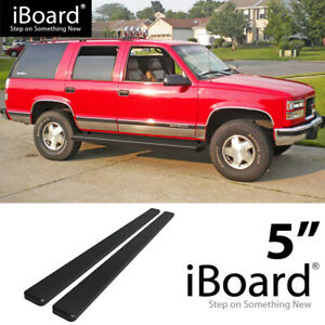 Running Board Side Step 5in Black Fit Chevy Tahoe 4dr Gmc Yukon 4dr 95 99