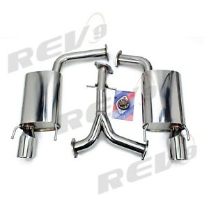 Rev9 Lexus Gs300 Gs350 S190 2006 11 Flowmaxx Stainless Axle Back Exhaust Kit