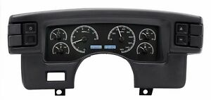 1990 93 Ford Mustang Dakota Digital Black Alloy White Vhx Analog Gauge Kit
