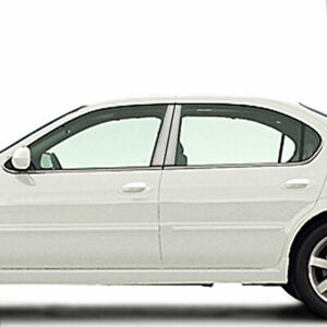 Chrome Pillar Post Covers For 2000 2003 Nissan Maxima 4 Pieces