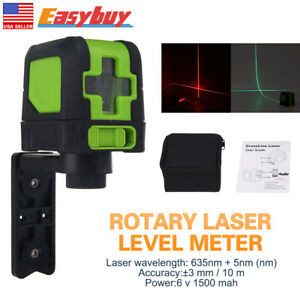 360 Rotary Red Laser Self leveling Vertical Horizontal Level Cross 2 Line