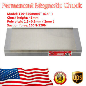 150 350mm 6 x14 100n 120n Stable Permanent Magnetic Chuck For Grinding Machine