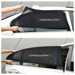 2 Pcs Car Side Window Sun Shade Adjustable Fit Visor Mesh Sunshade Auto Suv Us