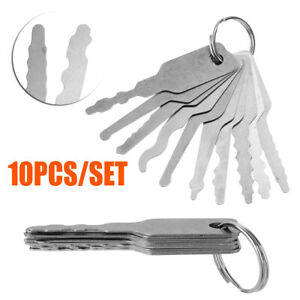 10pcs Set Universal Car Auto Lock Out Emergency Kit Unlock Door Open Tool Key Us