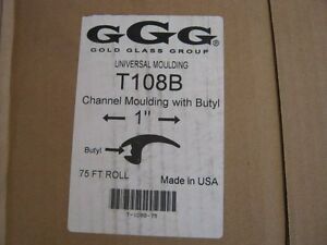 Gold Glass Group Universal Moulding T108b 1 Channel Moulding 75ft