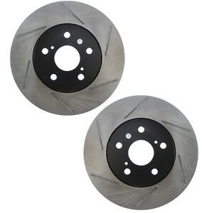 Pair Set 2 Front Stoptech Slot Disc Brake Rotors For Is250 Caliper Casting 60 28