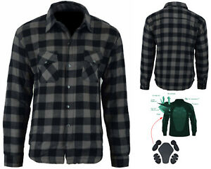 Motorcycle Motorbike Bikers sports CE armoured Flannel Shirt made with KEVLAR AU $149.00
