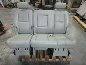 07 14 Chevrolet Tahoe 2nd Row Rear Seat Grey Leather Bench Oem