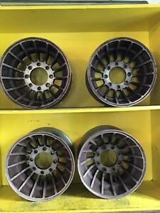 16 5 8 Lug Cyclone Fin Style Vintage Wheels Aluminum Alloy Ford dodge chevy gmc