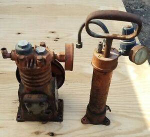 Vintage Devilbiss Air Compressor Head And Pipe Tank No Motor Nc 120