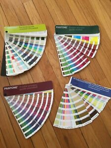 Pantone Color Guide 4 Set Coated Uncoated 4 color Process Free Shipping