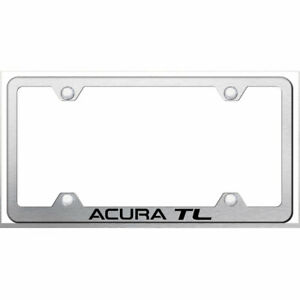 Licensed Brushed Wide Body License Plate Frame W acura Tl Augd3743