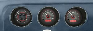 1969 Pontiac Gto Lemans Dakota Digital Carbon Fiber Red Vhx Analog Gauge Kit