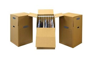 Bankers Box 7711001 Smoothmove Wardrobe Moving Boxes Tall 24 X 24 X 40 Inches