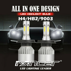 2x Cree H4 Led Headlight Kit 9003 1500w 225000lm Hi Low Beam Bulb 6000k Light Us