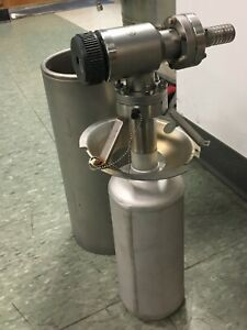 Varian Sorption Pump Complete With Valve And Liquid Nitrogen Container