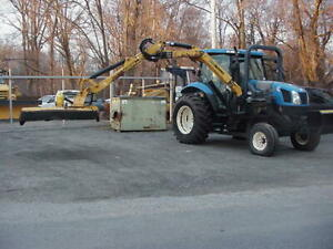 2005 New Holland Ts115 Tractor W Alamo Machete Boom Mower Bush Hog
