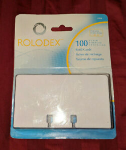 Rolodex 100 White Refills For Classic Rotary Card File 2 1 4 X 4 New Nip Rare