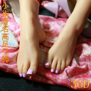 New Lifesize Realistic Silicone Foot Mannequin Fetish 1 Pair Jewelry Display 3