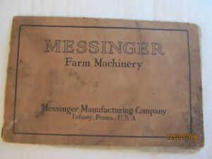 Old Original Messinger Gasoline Engine Full Line Farm Tool Equipment Catalog