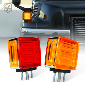 Xprite Ip65 Led Dual Face Truck Fender Pedestal Marker Light Turn Signal Parking