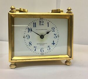 R H Halford Son Antique Small Carriage Clock
