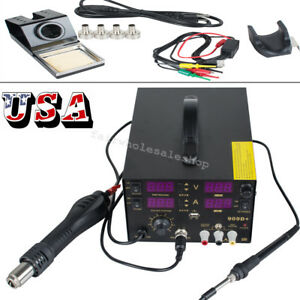 4 In1 800w 909d soldering Rework Station Hot Air Gun Unit Welding Solder Machine
