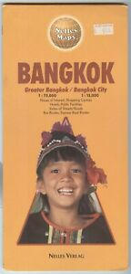 Nelles Maps Bangkok Area Double Sided Printed In Germany
