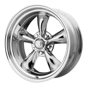 15 Inch Vn605 15x7 Chrome Classic Torq Thrust Rims Chevy 5 Lug 5x4 75