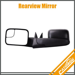 Lh Rh For 1994 2001 Dodge Ram 1500 94 02 2500 3500 Tow Flip Up Manual Mirrors
