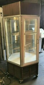 Traulsen Trc1 cw Display Case Refrigerated Revolving Hexagon Pie Case Show Off
