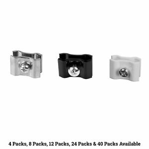 Gridwall Joining Clips Grid Joiner Connectors Black White Or Chrome Wholesale