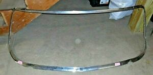 1957 Studebaker President Complete Front Windshield Stainless Trim Moulding Oem