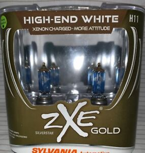 Sylvania Silverstar Zxe Gold H11 Set Headlight Bulbs Xenon Fueled Brand New
