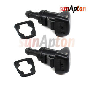 2pcs Windshield Washer Nozzle Wiper Spray Jet For 07 12 Dodge Caliber 5160308aa